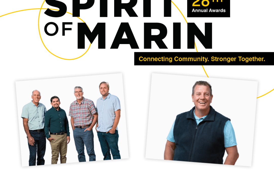 2021 Spirit of Marin Awards to Honor Mill Valley Market, City Manager Alan Piombo – Sept. 24